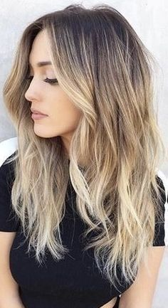 63 stunning examples of brown ombre hair - Hairstyles Trends Dark Ombre Hair, Ombre Hair Color, Hair Color Balayage, Balayage Highlights, Dark Brown To Blonde Balayage, Balayage Brunette To Blonde, Medium Hair Styles, Long Hair Styles, Hair Colors