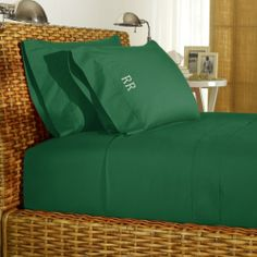 Ralph Lauren Green Percale Sheeting on shopstyle.com