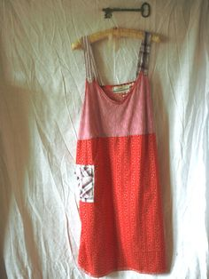 2XL Berrydale-Plus Size Clothes /Womens Dresses/Eco Dress / Tattered Artsy Dress / Upcycled Clothing by Unicycle Assembly