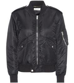 Black SAINT LAURENT  bomber jacket  for woman Black Bomber Jacket By Saint Laurent #chaquetabomber #bómber #bombers