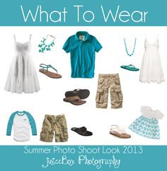What to Wear - Beach - Great colors for your next summer beach family photo shoot. #whattowear
