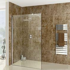 IMPERIA Wet Room Glass Shower Screen, 1400mm £132.99 - Shower Enclosures - Wet Room Shower Screens ThinkTaps