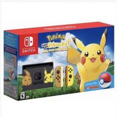 75e3892e Details about Nintendo Switch Pikachu & Eevee Edition with Pokemon: Let's go  Pikachu! Bundle