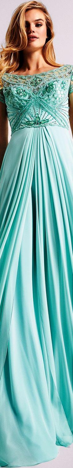 Pronovias 2018 ❤️ Turquoise Fashion, Turquoise Color, Teal, Aqua Wedding, Aqua Dresses, Formal Dresses, Tiffany Blue, Beautiful Gowns, Her Style