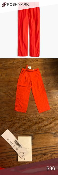 Lovely wide leg crop pants from j crew! Awesome pair of wide leg cropped pants from j crew. NWT! Size 2. J. Crew Pants Trousers