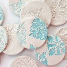 air dry clay ideas | Stamped Clay Magnets - made from air drying clay - Gathering Beauty