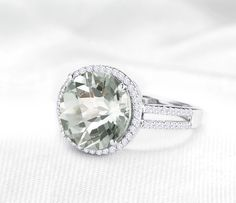 Enter to #win a Stunning Genuine Green Amethyst Ring. Its so incredibly beautiful this ring is sure to  bring the wearer many compliments and joy. Pure Bliss is Green! Good Luck to All! #HolstedJewelers