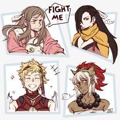 Fire Emblem Fates - Kazahana, Kagero, Scarlet, Rinkah