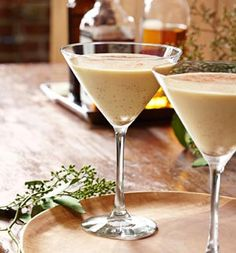 Make a Coconut Eggnog Martini