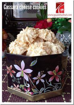 Chinese New Year Recipes - Cassava Cheese Cookies (芝士薯粉饼 Biskuit Sago Keju)