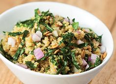 Recipe: Kale and Quinoa Salad with Lemon-Garlic Dressing. This salad is perfect as a side dish or main course.