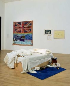 Artwork page for My Bed, Tracey Emin 1998 on display at Tate Liverpool. Tracey Emin Bed, Tate London, Turner Contemporary, Unmade Bed, Art Alevel, Turner Prize, Tate Britain, Royal College Of Art, Meet The Artist