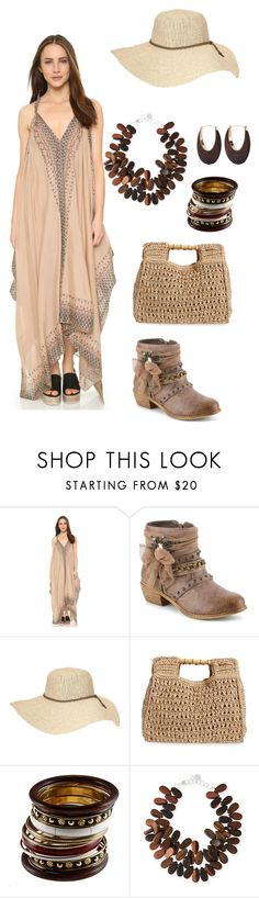 """""""Bohemian wild (#24)"""" by madteapartydl ❤ liked on Polyvore featuring Free People, Athleta, San Diego Hat Co., NEST Jewelry and Kenneth Jay Lane"""