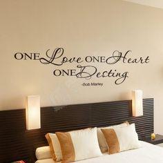 Samolepka na zeď - Citát One Love