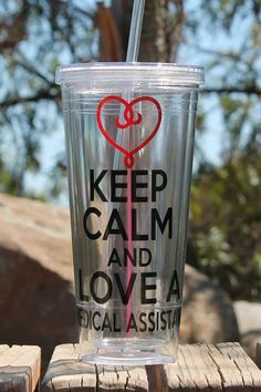 Custom/Personalized Keep Calm and Love a Medical Assistant Tumbler Great Medical Gift gifts Custom/Personalized Keep Calm and Love a Medical . Medical Careers, Medical Humor, Medical Students, Medical School, Medical Assistant Training, Medical Laboratory Science, Medical Gifts, Medical Field, Keep Calm And Love