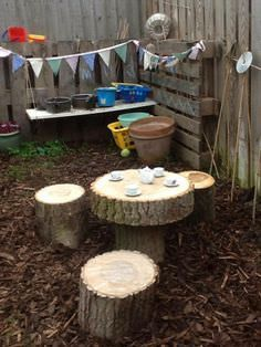 We love this table and chairs set up - simple and loads of fun.