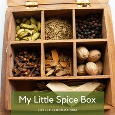 My Little Spice Box – Vegan Cooking Spices And Herbs, Plant Based Diet, Sustainable Living, Vegan, Cooking, Box, Kitchen, Cuisine, Koken