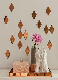 A tendência do cobre na decoração