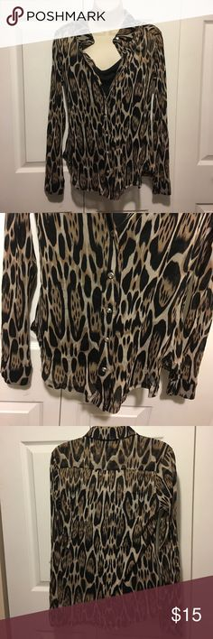 30% Off Bundles INC Leopard Print Blouse Only worn once. Excellent condition. No tears, stains or marks. Combine with any item with a ✅ for a $15 bundle or add three more items for 30% Off Bundles. INC International Concepts Tops Button Down Shirts
