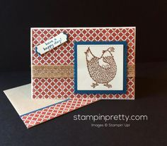Hey Chick Have a Happy Day! (Mary Fish, Stampin' Pretty The Art of Simple & Pretty Cards) Mary Fish, Stampin Pretty, Have A Happy Day, Stampinup, Bird Cards, Stamping Up Cards, Pretty Cards, Creative Cards, Homemade Cards