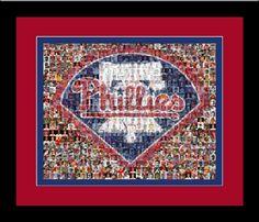 Philadelphia Phillies Mosaic Art designed using 150 Past & Present Player Photos. Handmade by The Mosaic Guy on Etsy, $35.00