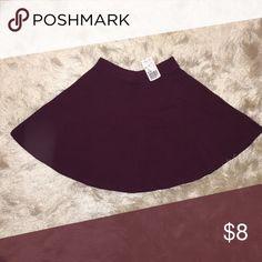 Forever 21 Skater Skirt Forever 21 Plum Skater Skirt. 95% cotton & 5% spandex. Forever 21 Skirts Circle & Skater