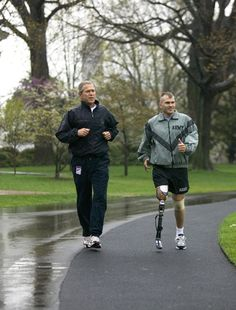 How To Thank A Soldier, By George W. Bush  Do a sport with them.