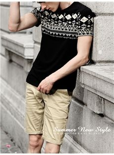 Charming Geometric Print MEN T-Shirt