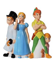 Look what I found on #zulily! Peter Pan & Friends Salt & Pepper Shakers #zulilyfinds