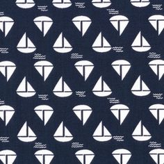 Dear Stella House Designer - Anchors Away - Sailboats in Navy