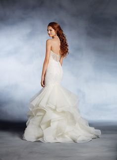 Little Mermaid inspired wedding dress by Alfred Angelo. Click on the image to see our full gallery of Disney inspired wedding dresses.