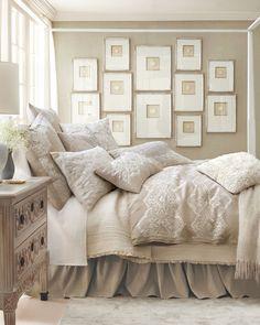 Comfy cozy bed Dream Bedroom, Home Bedroom, Bedroom Ideas, Bedroom Designs, Bedroom Wall, Bedroom Inspo, Cottage Bedrooms, Wooden Bedroom, White Bedrooms