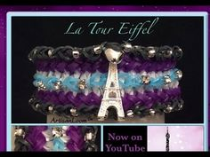 This design uses a five bar loom with adjustable peg positions. *Zuzu*   Rainbow Loom Band La Tour Eiffel Bracelet Tutorial/How To
