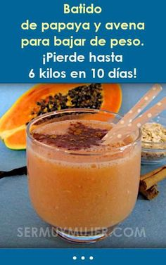 Futuristic Fine Natural Detox For Drug Test Healthy Juices, Healthy Smoothies, Healthy Drinks, Papaya Benefits, Diet Recipes, Healthy Recipes, Banana Overnight Oats, Natural Detox, Atkins Diet