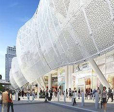 PELLI CLARKE PELLI'S TRANSBAY CENTER GLASS FACADE COULD BECOME PERFORATED METAL