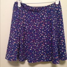 Blue floral skater skirt Adorable blue floral skirt from Lush (a Nordstrom brand). Worn a few times, in excellent condition. It is fully lined. Feel free to ask any questions! Lush Skirts Circle & Skater