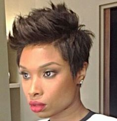 jennifer hudson hair styles hudson hairstyle with waves 2238 | e9c03c289a30a3b368185b614629e908 short pixie hairstyles pixie haircuts