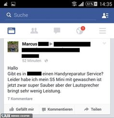 Dumm gelaufen....  #handy #Facebook #Status #gewaschen #Handyreparaturservice ---------------------------------- Mehr unter: https://de.1jux.net/login?rid=109687 und unter: https://www.facebook.com/WitzeMemeLustigesZitate