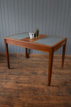 Vintage Mid Century Wooden Double MOD Desk Table -  Industrial - CAN DELIVER