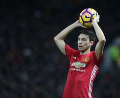 Matteo Darmian of Manchester United in action during the Premier League match between Manchester United and Tottenham Hotspur at Old Trafford on...