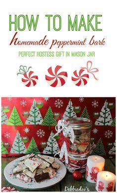 Perfect little hostess gift. Homemade #peppermintbark. #Recipe