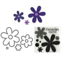 Sizzix Framelits Flowers/ Daisies Die Set with Stamps