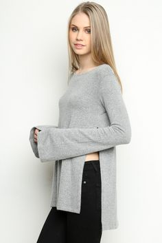 Brandy ♥ Melville   Osanna Knit Top - Clothing Brandy Love, Bell Sleeves, Bell Sleeve Top, Brandy Melville, Pullover, Knitting, My Style, Long Sleeve, Clothing