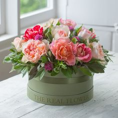 Our English Summer Hat Box Arrangement - The most beautiful gift