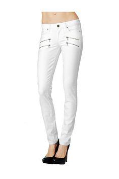 Paige Denim Edgemont Skinny Jeans Optic White