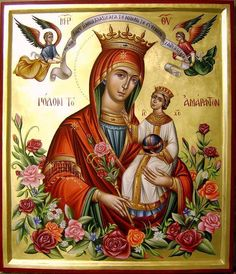 The virgin Mary Religious Images, Religious Icons, Religious Art, Blessed Mother Mary, Blessed Virgin Mary, Hail Holy Queen, Religion, Sign Of The Cross, Queen Of Heaven