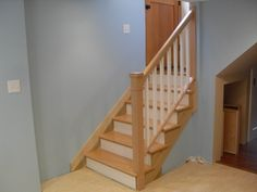 Removable handrail - Traditional - Staircase - Portland - by Portland Stair Company New Staircase, Staircase Railings, Stairways, Staircase Ideas, Handrail Ideas, Cozy Basement, Basement Stairs, Basement Apartment, Railing Design