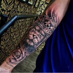 50 eye-catching lion tattoos that make you fancy ink - tattoo ideas - . - 50 eye-catching lion tattoos that make you fancy ink – tattoo ideas – # flashy - Hand Tattoos, Lion Forearm Tattoos, Lion Head Tattoos, Mens Lion Tattoo, Forarm Tattoos, Best Sleeve Tattoos, Tattoo Sleeve Designs, Cool Tattoos, Amazing Tattoos
