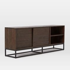 "Logan Industrial Media Console (80"") - Smoked Brown #westelm"