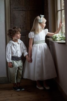 Flower girl and pageboy outfits by Nicki Macfarlane